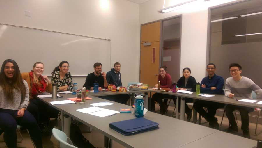 University of Alberta students in a classroom