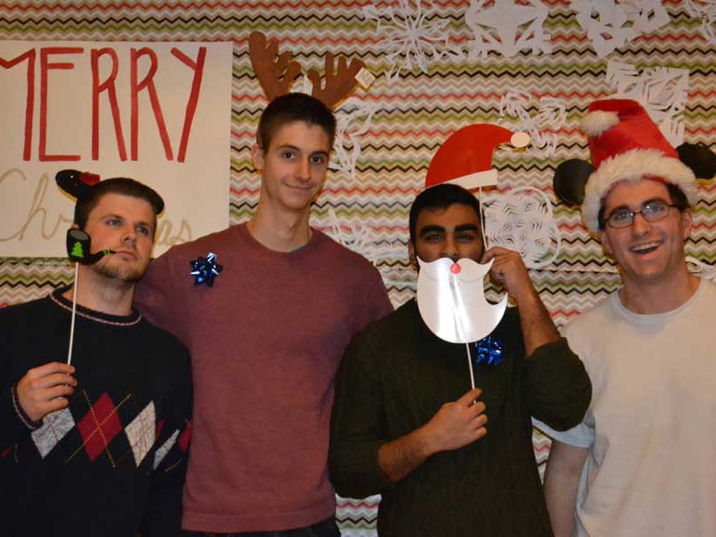 University of Alberta undergraduate students at a Christmas party