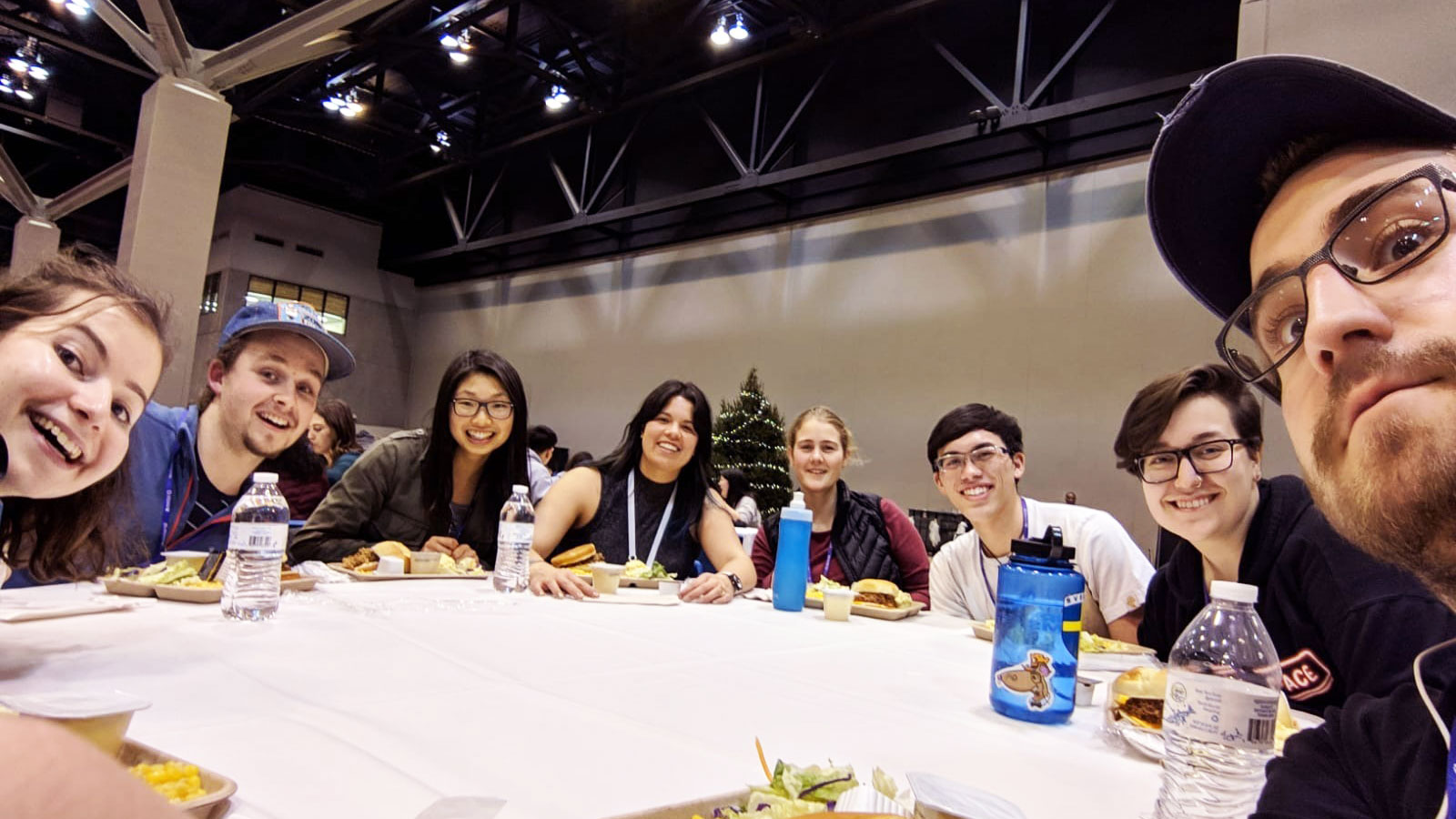 Emily Carr students gathered at a table