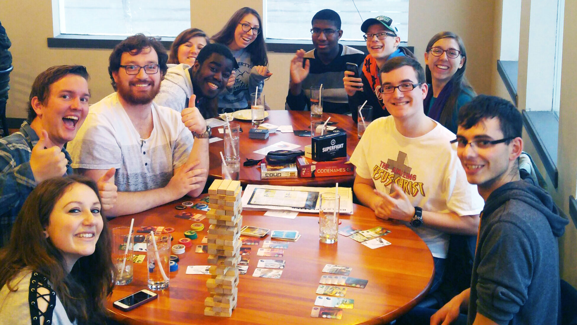 University of Lethbridge students at a game night