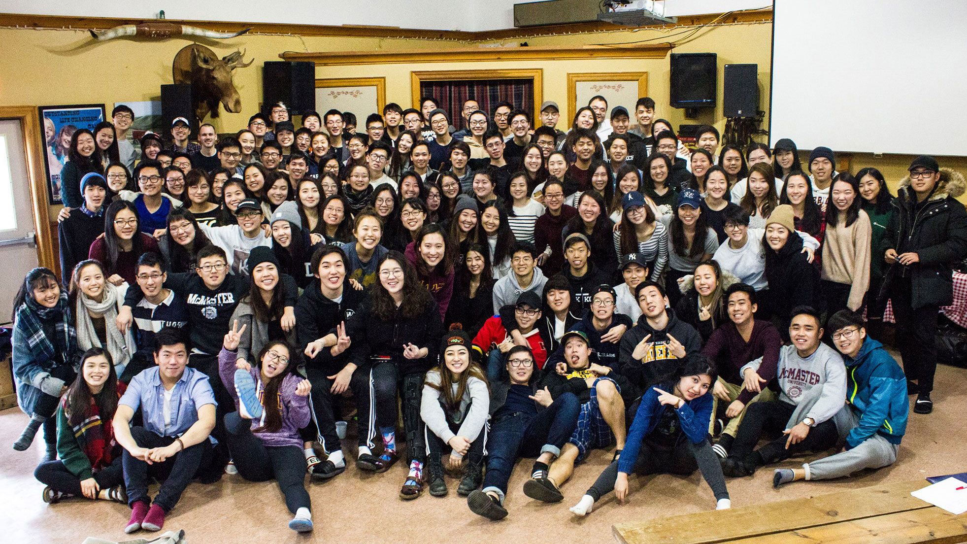 University of Toronto students posing for a group photo