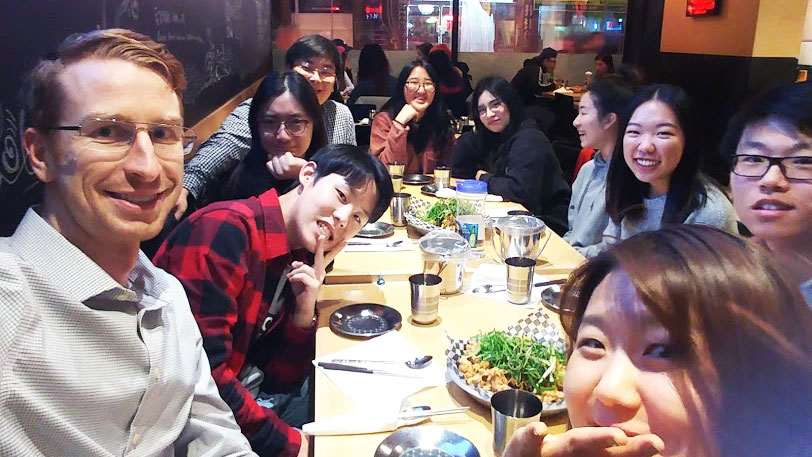 University of Toronto students and campus staff eating together