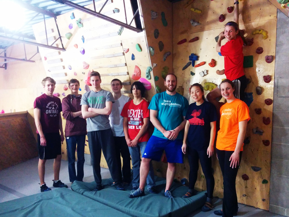 Humberside students rock climbing