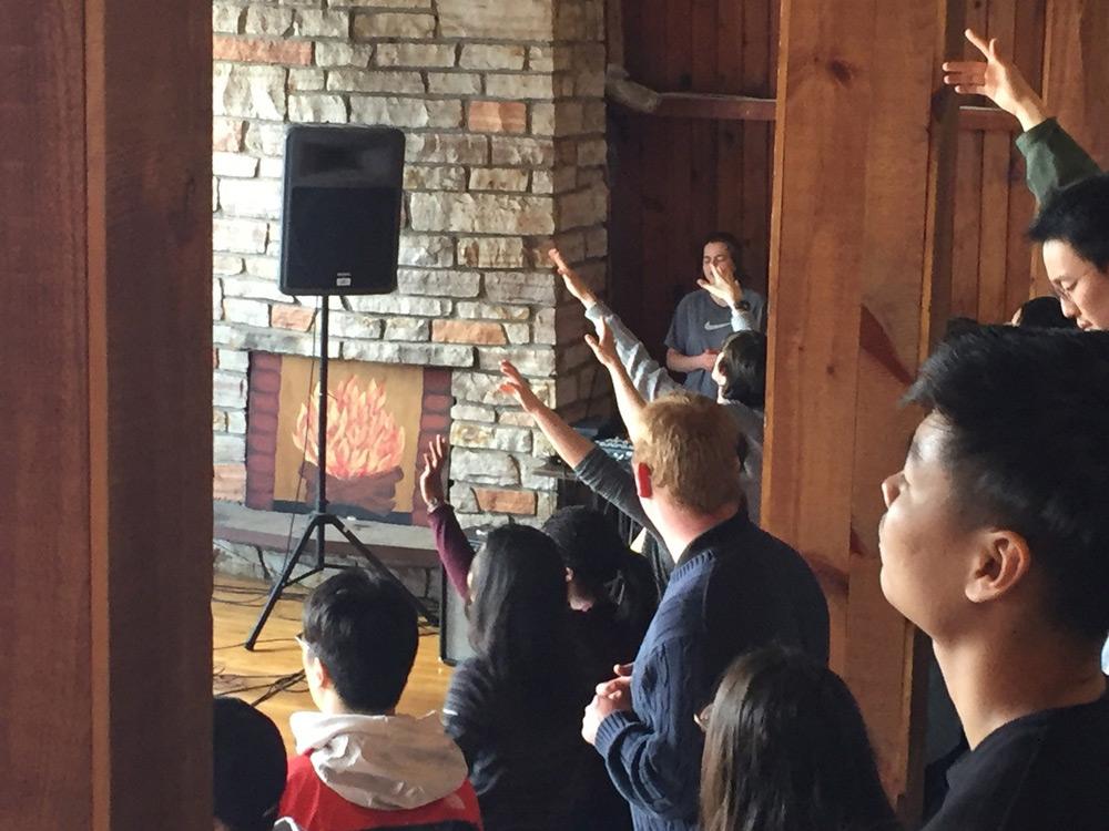 McMaster University students worshipping