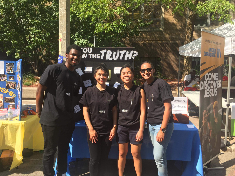 InterVarsity group at Ryerson University's club fair