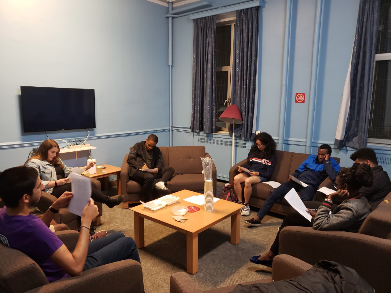 McGill University's students doing a Bible study