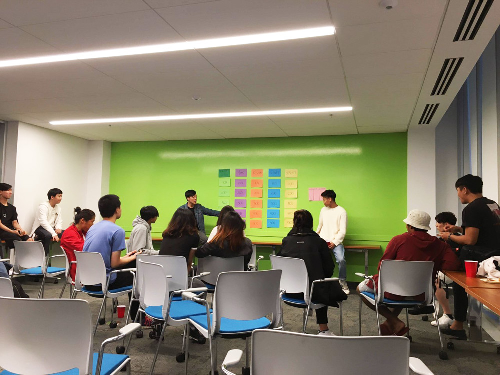 York University students gathered in a classroom