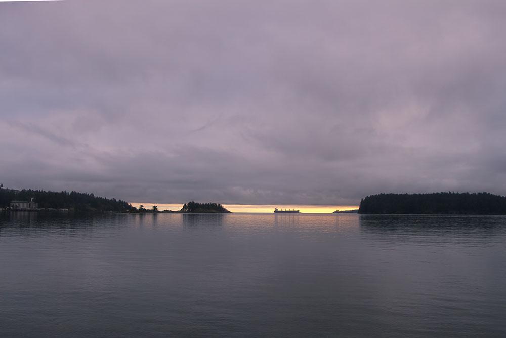 A photo of a horizon