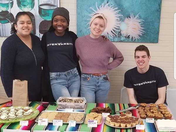 Memorial University students doing a bake sale