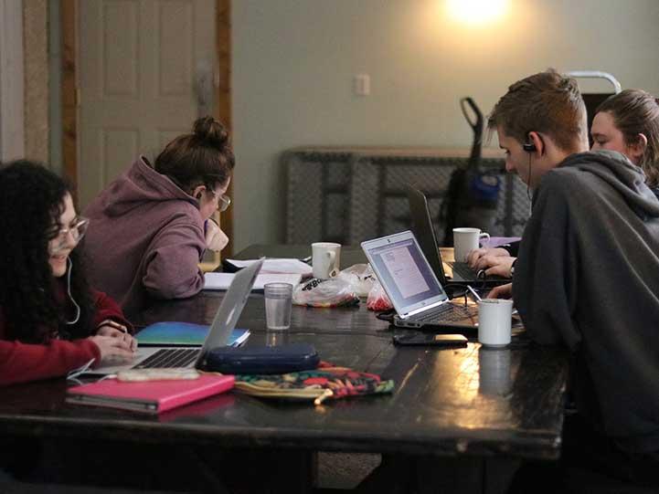 University of Manitoba students studying together